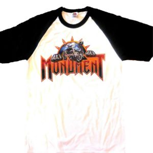 Monument - Logo Black Sleeves / White T-Shirt