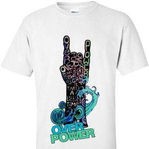 Overpower - Wave Devil Horns T-Shirt