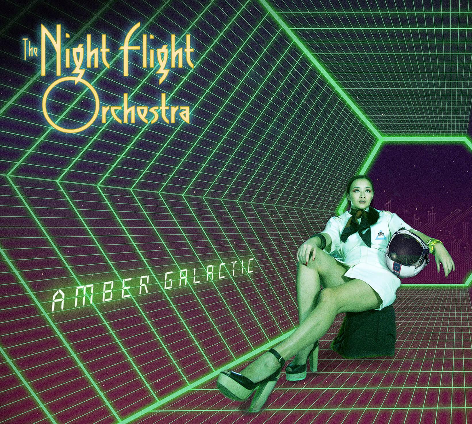 Night Flight Orchestra - Amber Galactic (Double Black LP)