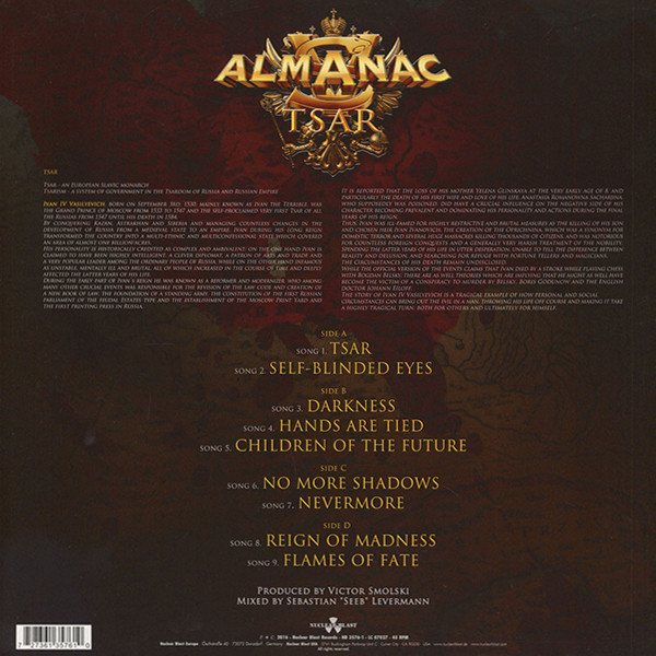 Almanac - Tsar (Double LP)