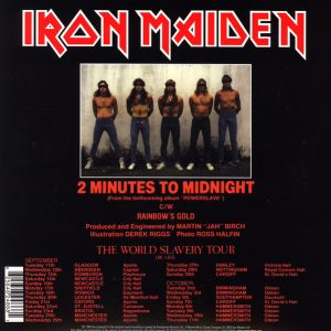 "Iron Maiden - 2 Minutes To Midnight / Rainbow's Gold (7"" Single)"